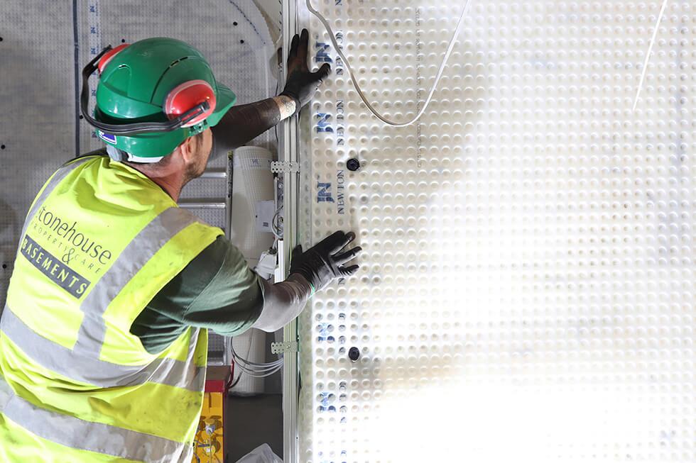 8mm Meshed Cavity Drain Basement Wall Membrane