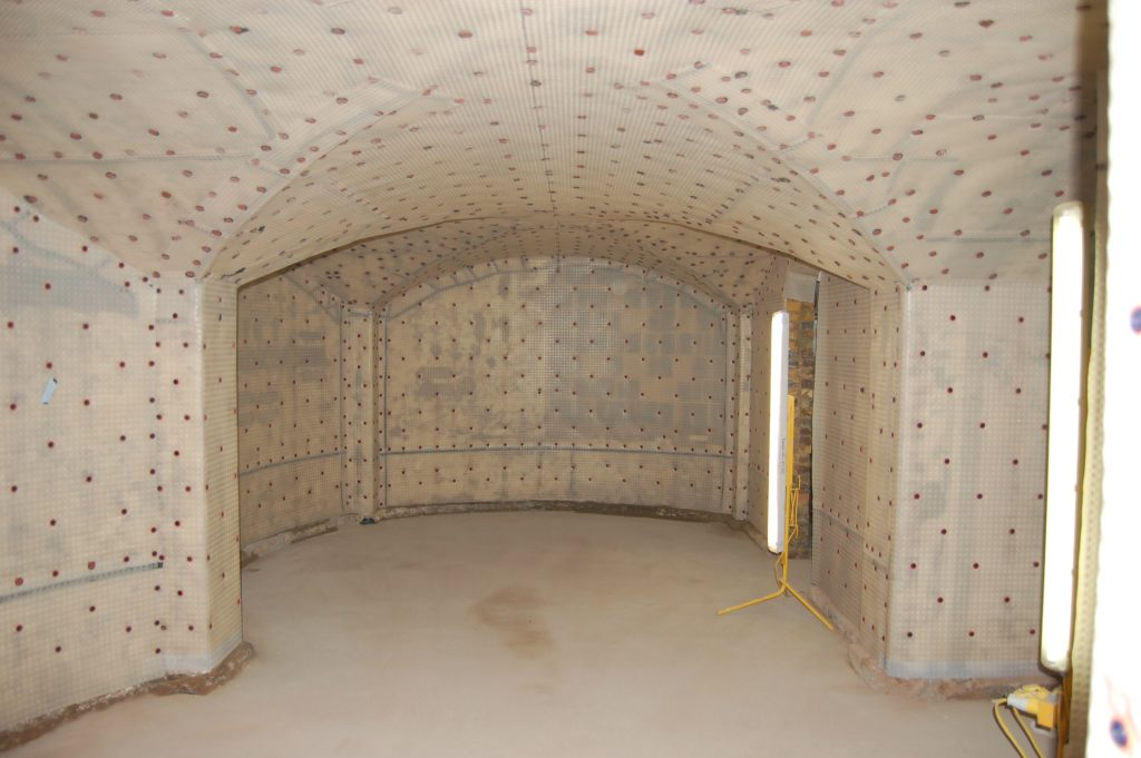Newton 508 Mesh Applied To Vaults And Walls