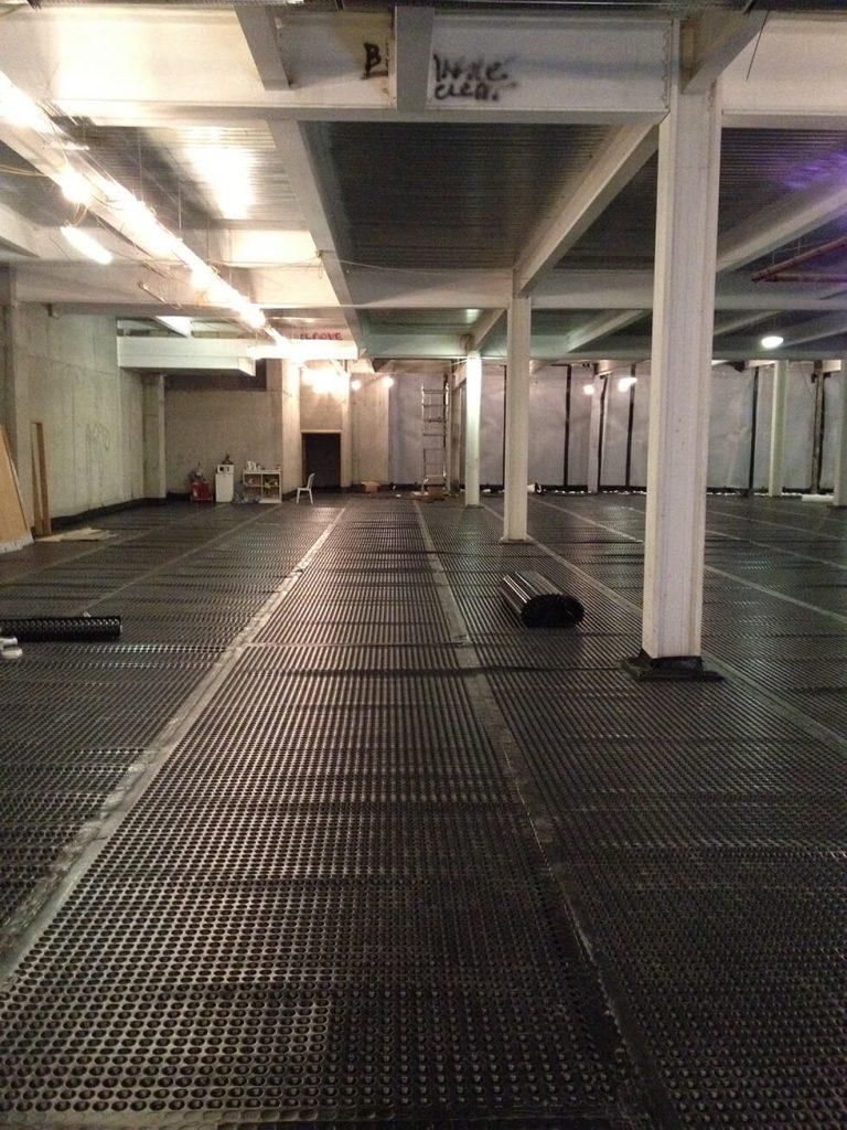 20mm Recycled Cavity Drain Basement Floor Membrane
