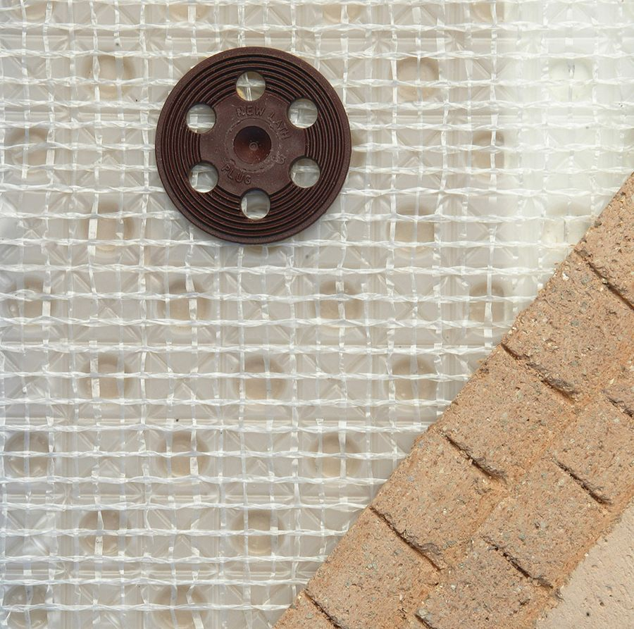 Detail of Newton 805 Newlath damp proof membrane