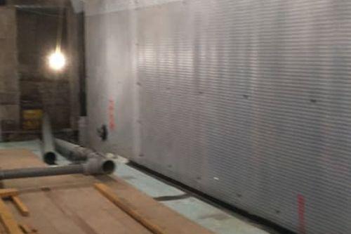 Newton cavity drain membranes applied to walls