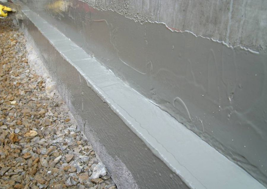 Application of FlexProof Construction Joint Waterproofing