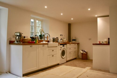 Basement converted into a kitchen