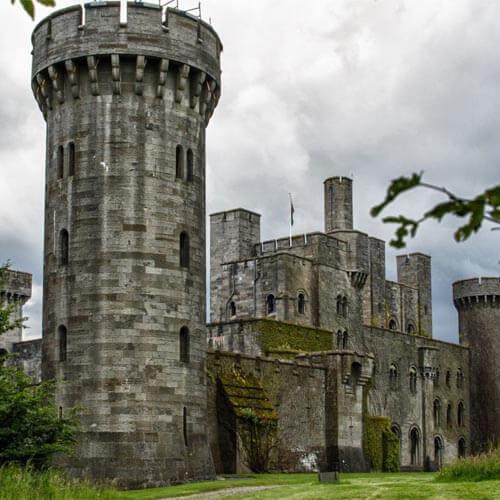 External shot of a castle in Wales