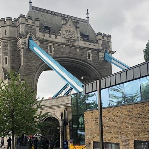 External shot of Tower Bridge, London