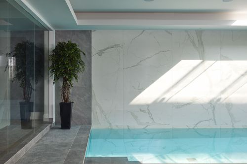 Swimming pool in a basement
