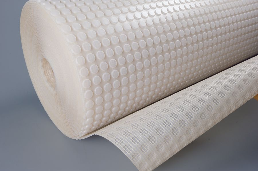 Detail of Newton 803 meshed damp proof membrane