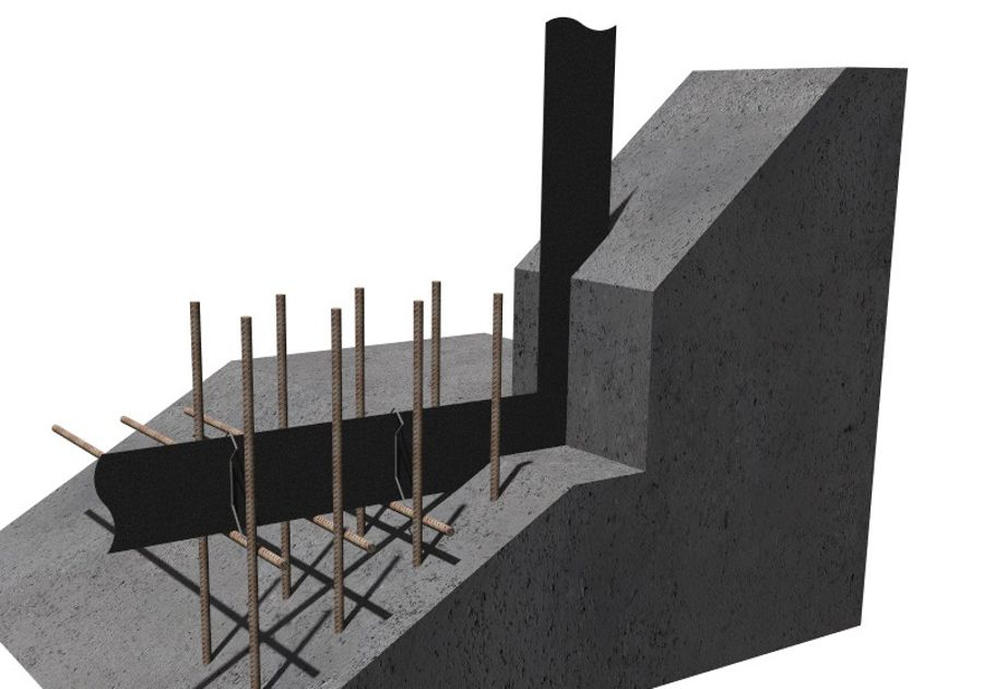 3D Drawing of a Metal Construction Joint Waterbar
