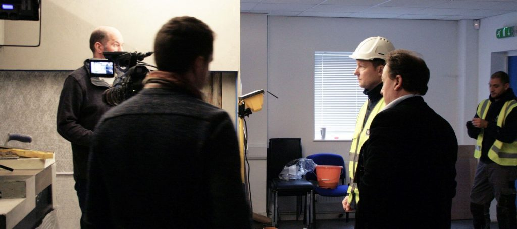 NHBC filming at Newton headquarters