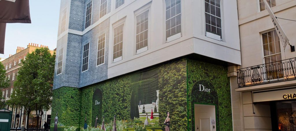 External shot of the Christian Dior building, London
