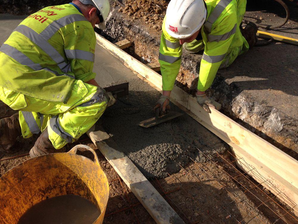 Rapid Set Repair Mortar application by trowel