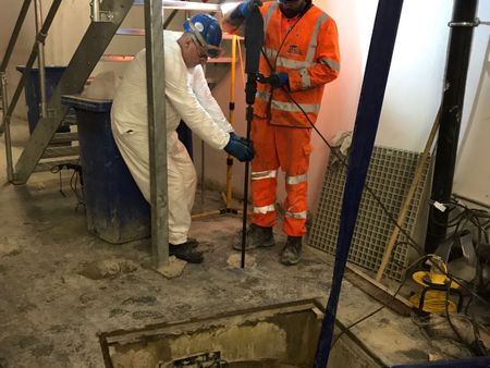 Resin injection leak sealing with ASF Waterproofing