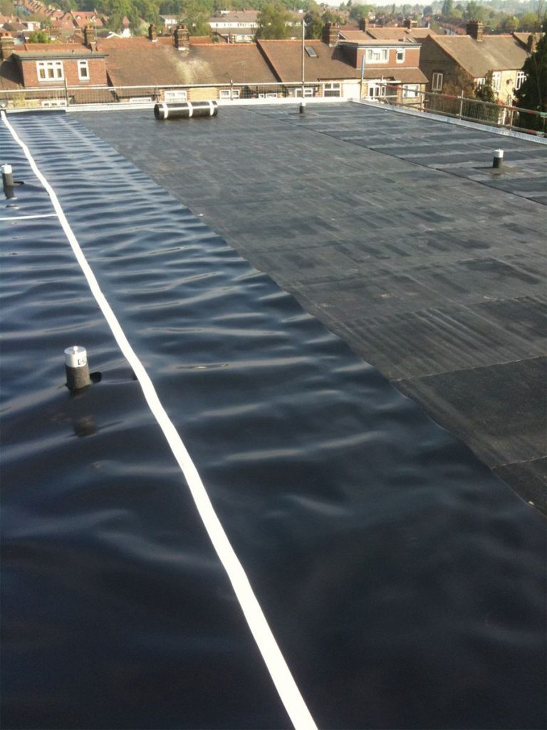 Application of Root Barrier to a terrace