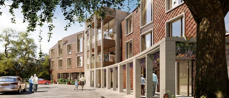 Artists impression of a care home in London