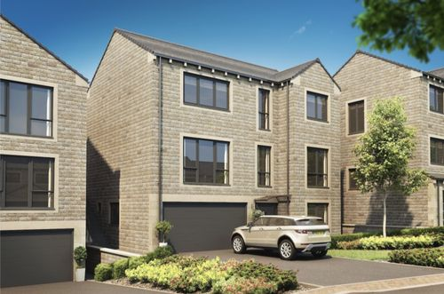 Artists impression of a new housing development