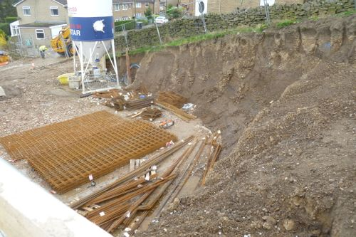Sloping site needed large excavations