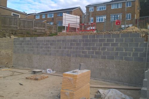 Blockwork retaining walls required Type A (external) and Type C (internal) waterproofing