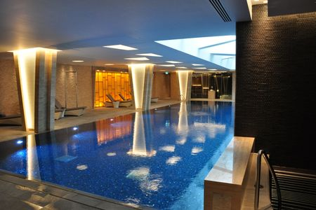 Swimming pool in the residents clubhouse