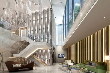 Artists impression of the Clubhouse Atrium