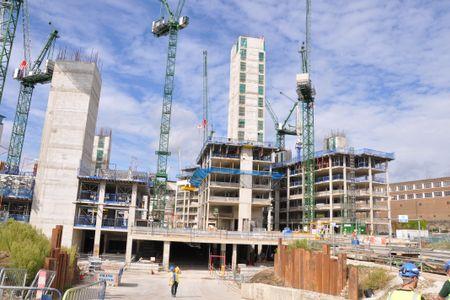 Large building development in London