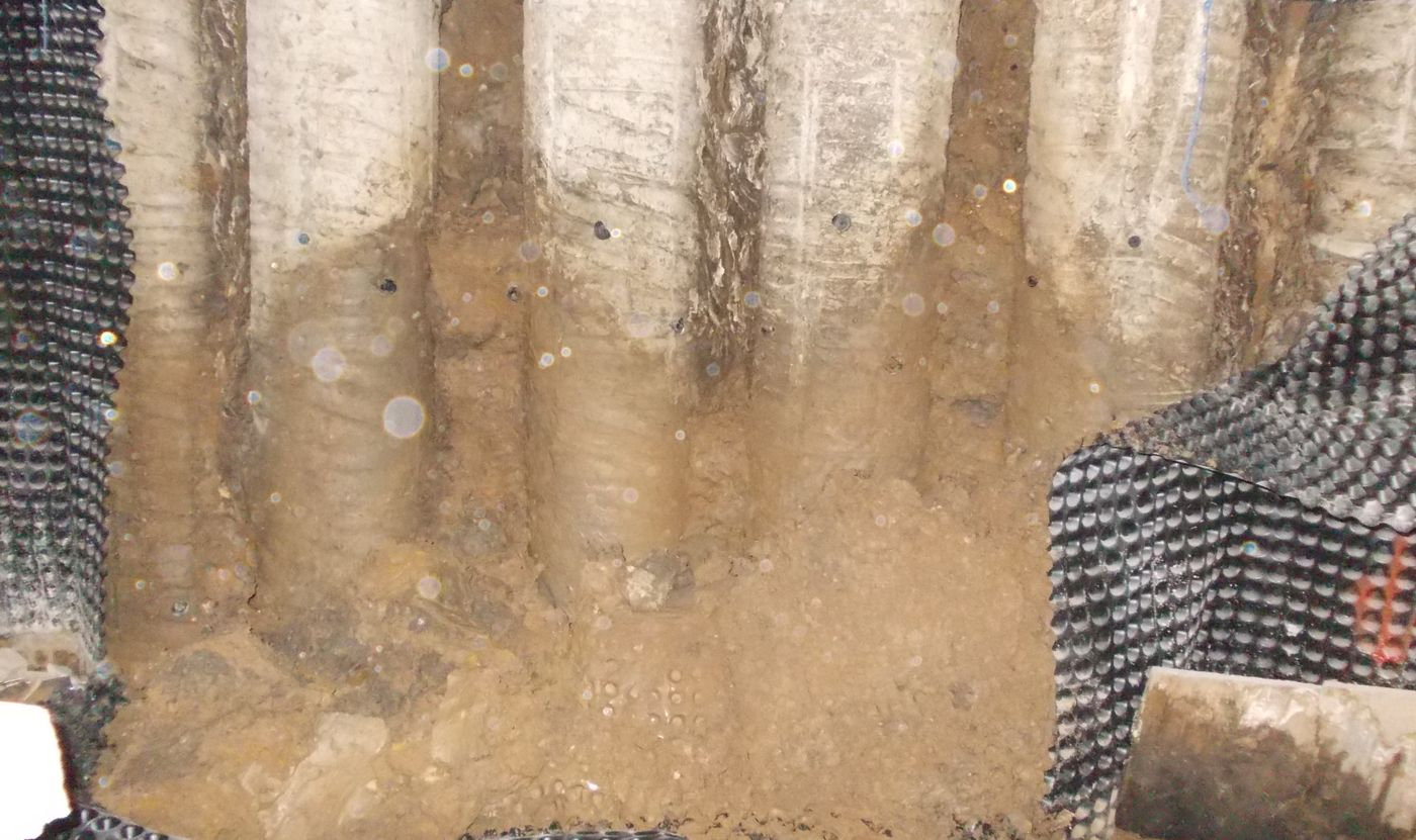 Waterproofing of Contiguous Piles