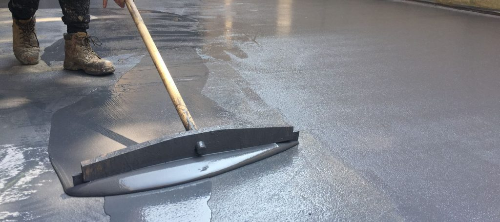 Application of liquid waterproofing coatings