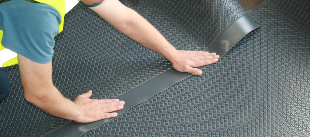 Application of sheet flooring membranes