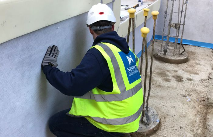 Application of Type A and B waterproofing