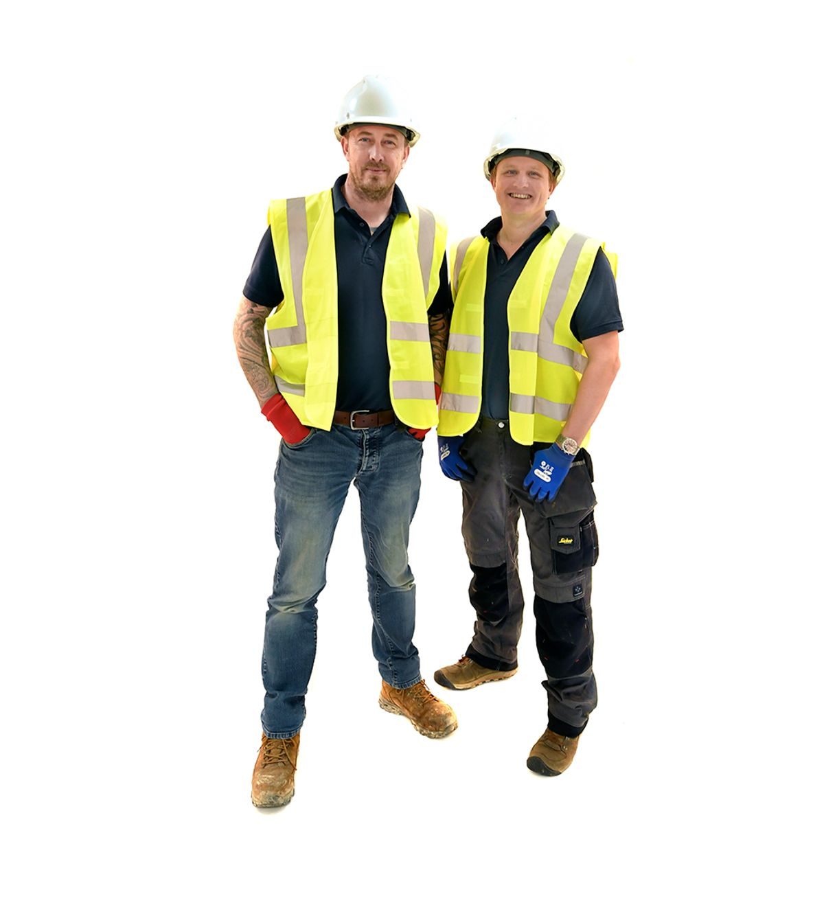 Two Builders smiling