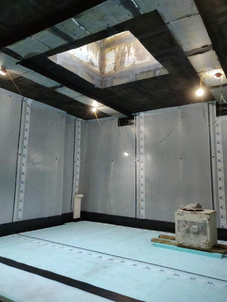Cavity Drain Membrane Installation