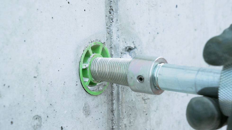 RiveOut easily removes RivePipe from the cured concrete