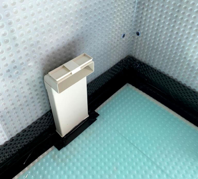 An inspection port for type c waterproofing