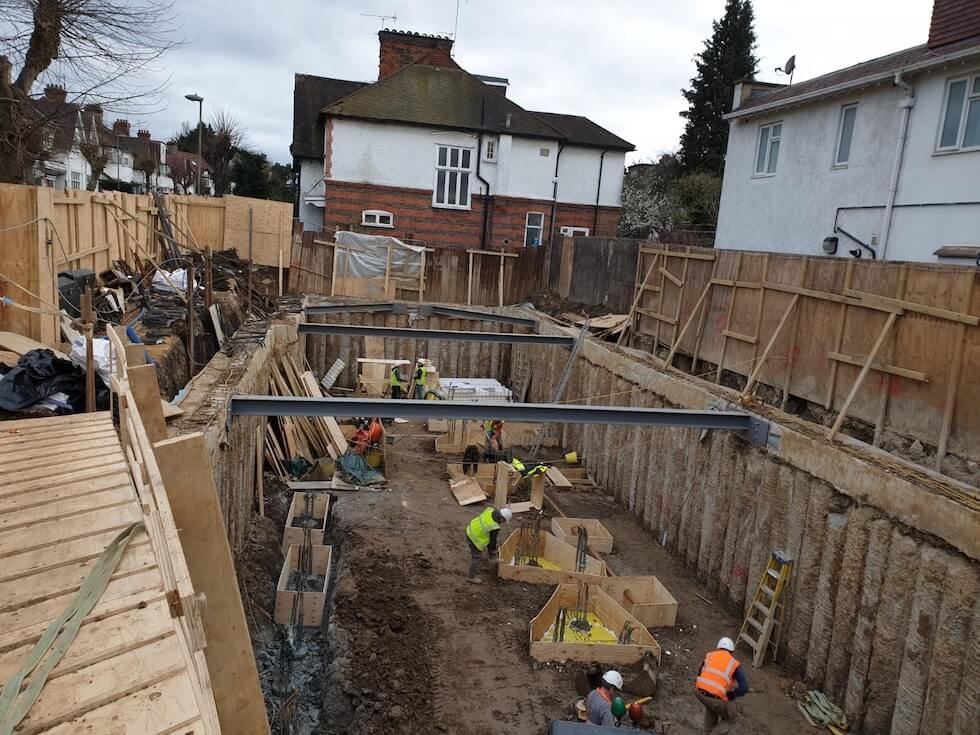 After the basement excavation