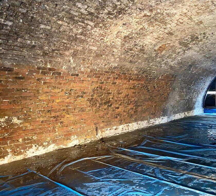 The brickwork needed thorough cleaning and repointing