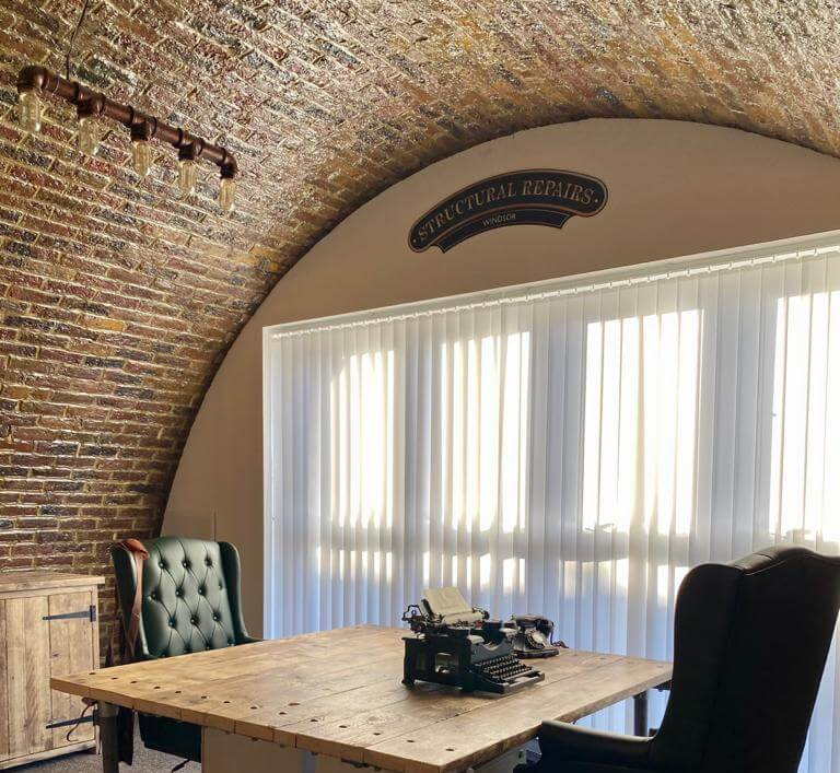 The renovated arches are now Structural Repairs' head office