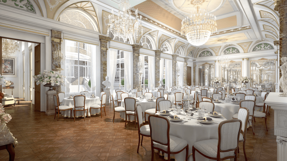 An artists impression of the magnificent ballroom at the new Cambridge House Hotel