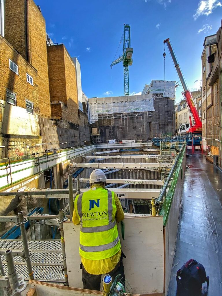 Newton's site support team visting the site at Building 3 of Cambridge House Hotel